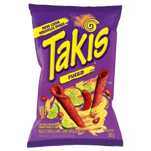 Takis Fuego Hot Chili Pepper & Lime Tortilla USA Chips 280g