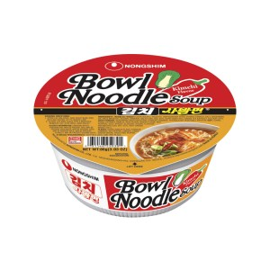 Nongshim Bowl Spicy Instant Noodles with Kimchi Soup 86g X 12 Cups