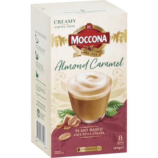 Moccona Coffee Almond Caramel Latte Sachets 8 Pack