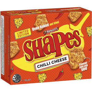 Arnotts Shapes Original Crackers Biscuits Chilli Cheese Box 165g