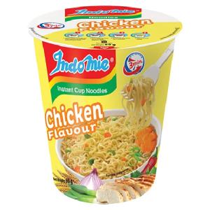 Indomie Instant Cup Noodles Chicken Flavour 75g X 12 Cups