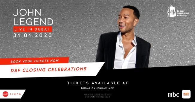 John Legend DSF Closing Celebrations