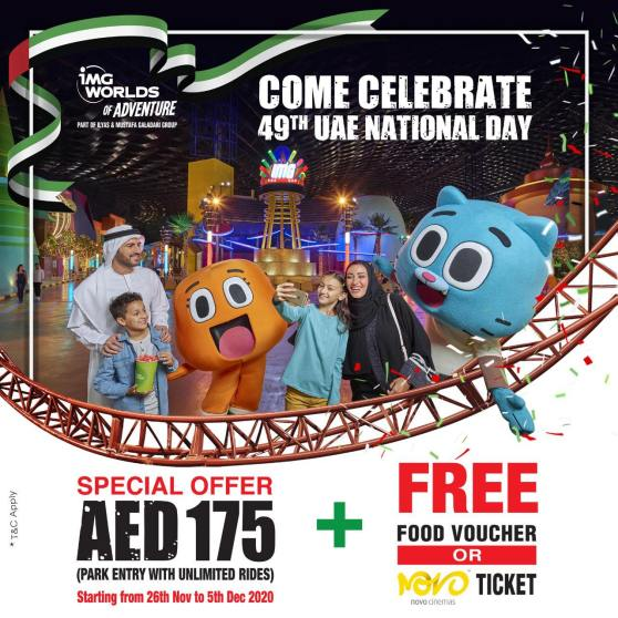 UAE National Day Offers at IMG Worlds of Adventure