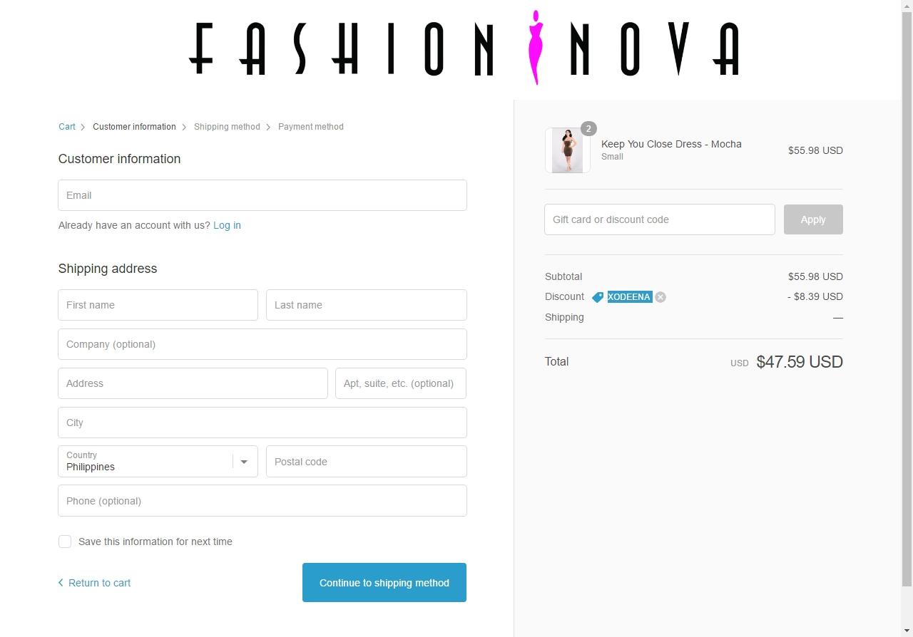 Get 75 Off Fashion Nova W Coupon Code