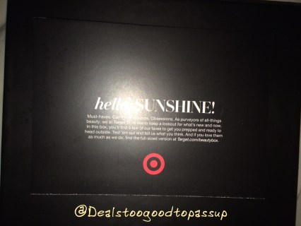 Target Beauty Box April 2016 2