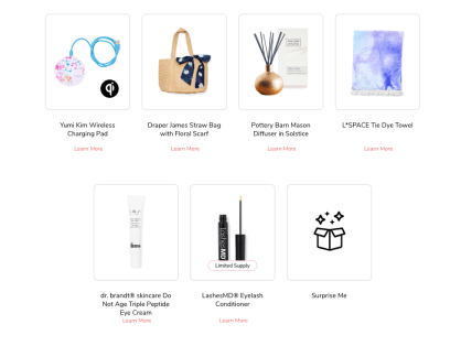 FabFitFun Customization Options 2020 and Schedule Summer Choice 1