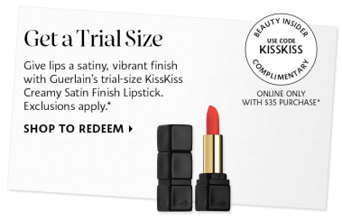 Sephora Promo Codes 2020 Beauty Insider KISSKISS Gurlain Lipstick March