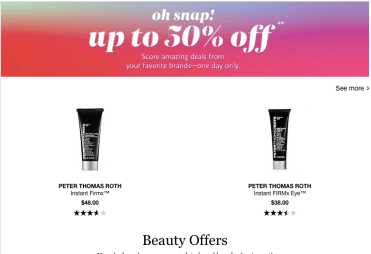 Sephora Snap Sale 2020 April 1st