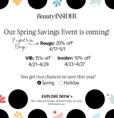 Sephora VIB Sale 2020 Dates