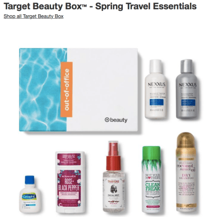 Target Deals 2020 Beauty Box Spring Travel Essentials