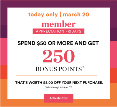 Ulta Member Appreciation Fridays 2020 March