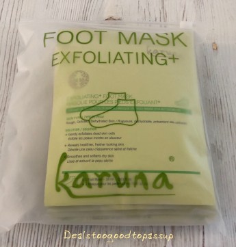 FabFitFun Spring 2020 Subscription Karuna Exfoliating Foot Mask Pack