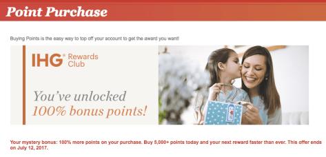 Image result for ihg buy points 2017