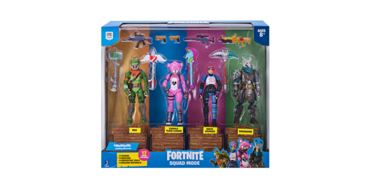 Fortnite Squad Mode 4 Figure Pack $29.99 *Free Shipping for Prime Members*(Reg. $39.99)