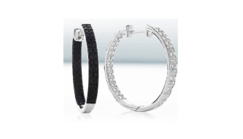 270e80332 2 Days Only - 1/2 Carat Black & White Diamond Reversible Hoop Earrings $47
