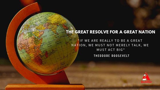 The Great Resolve For A Great Nation