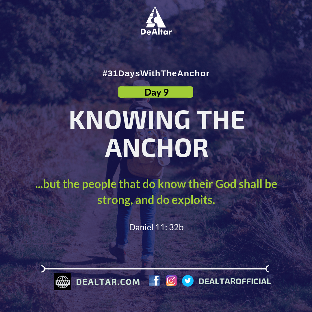 #31DaysWithTheAnchor – Day 9