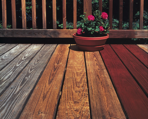 Home Depot Deck Stain St 122 Redwood Naturaltone Semi Transparent