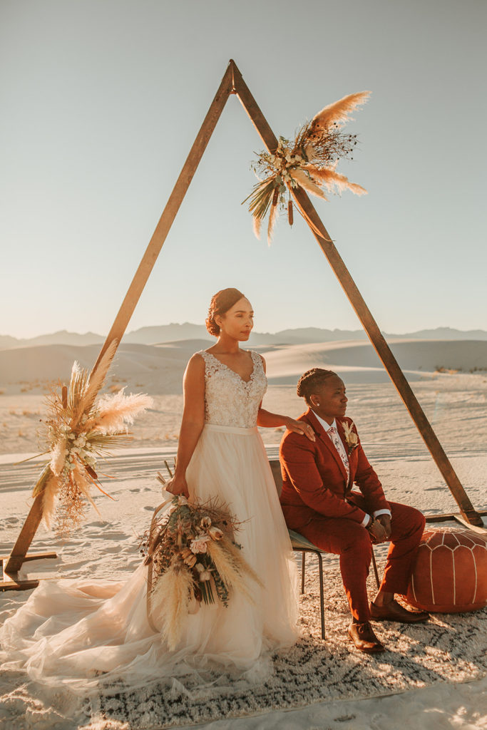 Beautiful Elopement in White Sands, New Mexico- DeAna Fierce