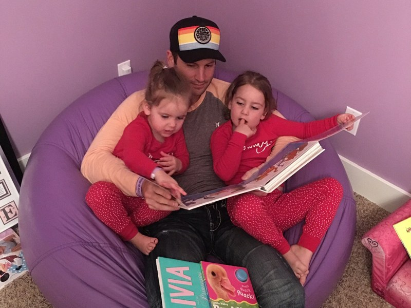Dean Whalen Reading to Daughters