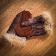 Fifty-year-old fur gloves.