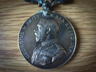 """The Distinguished Conduct Medal my grandfather earned for """"conspicuous gallantry""""."""