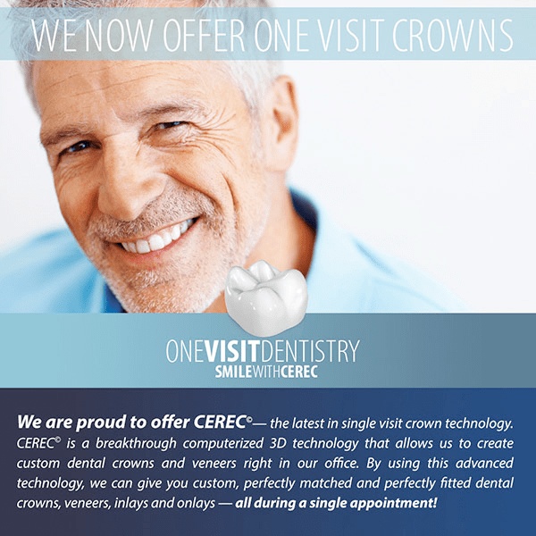 Dental Crowns-in-a-Day with CEREC in Knoxville, TN