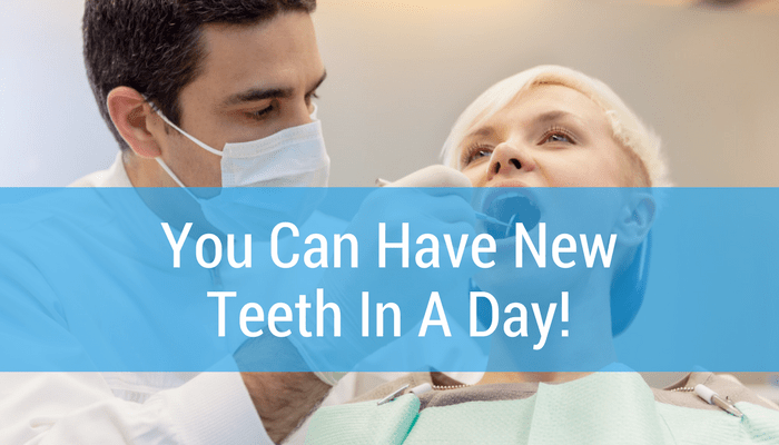 You Can Have New Teeth In A Day With Dean Cosmetic Dentistry