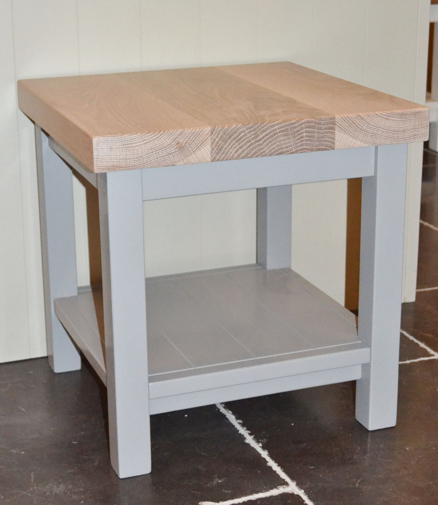 Deanery Small Coffee Table With Oak Top And Hand Painted