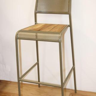 Bar kitchen bar stool chair metal and boatwood