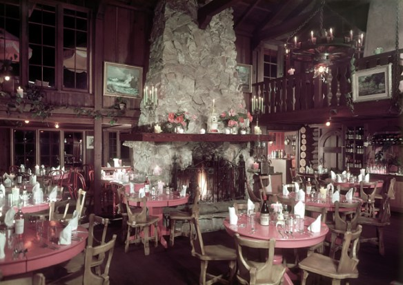 another early photo of the original dining room - image from Shadowbrook's website