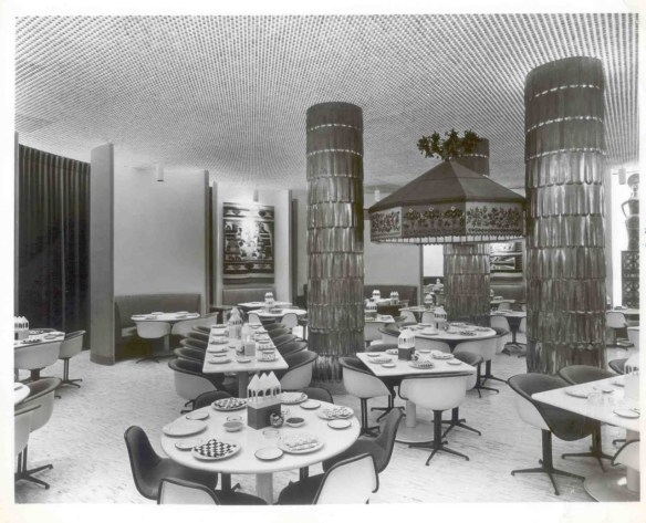 La Fonda Del Sol - designed by Alexander Girard with furniture by Charles and Ray Eames - photo by B22 Design's Facebook page