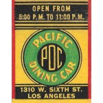 Pacific Dining Car vintage matchbook