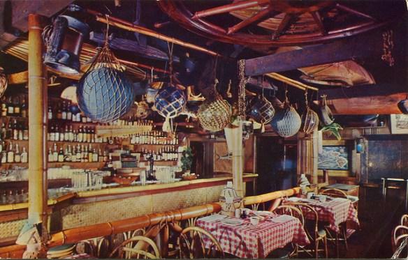 Trader Vic's bar, Oakland - postcard image via SwellMap on Flickr
