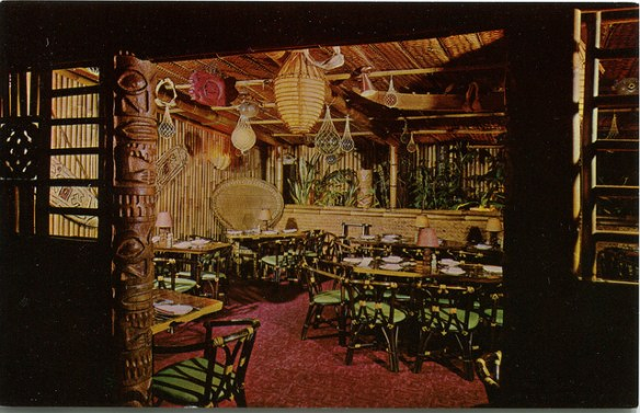 Garden Room, Trader Vic's, San Francisco - postcard via SwellMap on Flickr