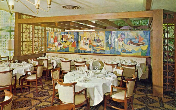early postcard of Heilman's Beachcomber's Gallery Room - image by William Bird on Flickr