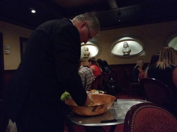 tableside Caesar salad - photo by Dean Curtis, 2016