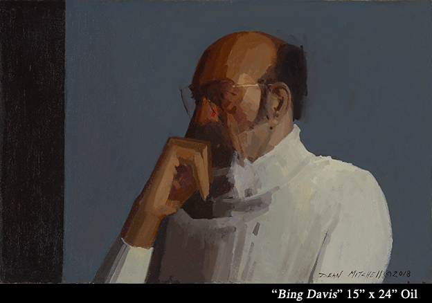 "Bing Davis  Oil 15"" x 24"""