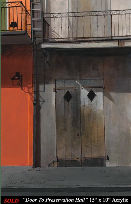 "Door to Preservation Hall 15"" x 10"" Acrylic"