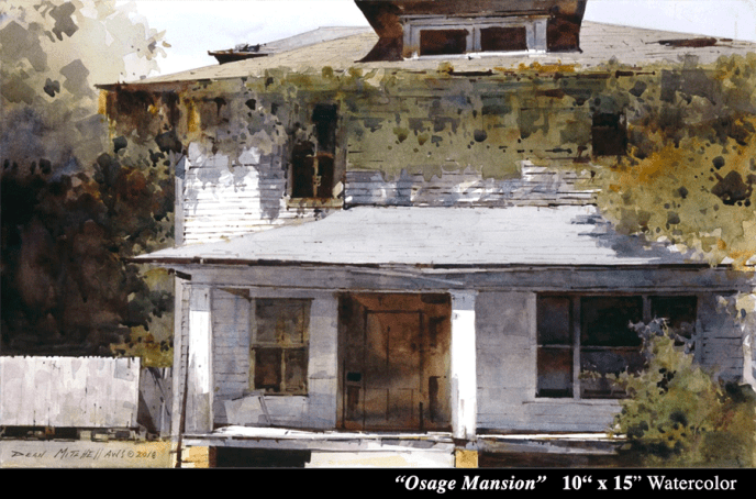 "Osage Mansion 10"" x 15"""