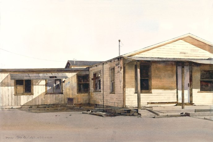 "Maricopa County House 20"" x 30"" watercolor"