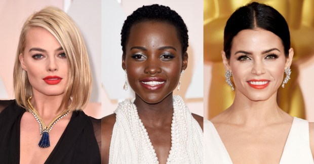 Margot Robbie, Lupita Nyong'o, and Jena Dewan exuded confidence and glamour with their sultry eyes and bold lips.