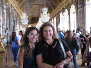 Exploring the Hall of Mirrors in Versailles.