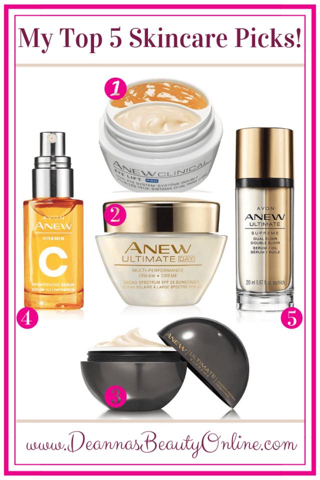 top five skincare picks