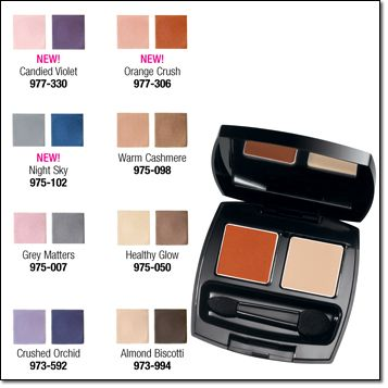 Avon Eyeshadow Duo Current Shades