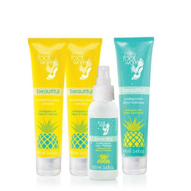 Avon Foot Works Pineapple Chill Collection