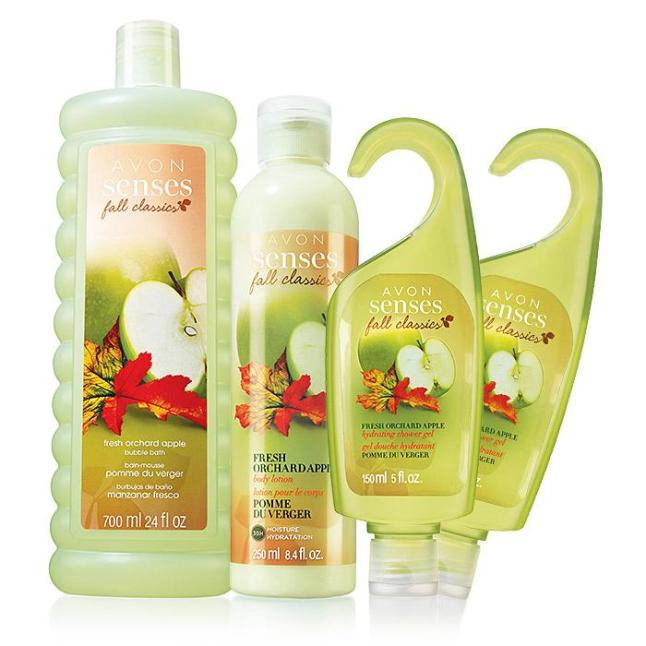 Avon Senses Orchard Apple Collection Fall Limited Edition