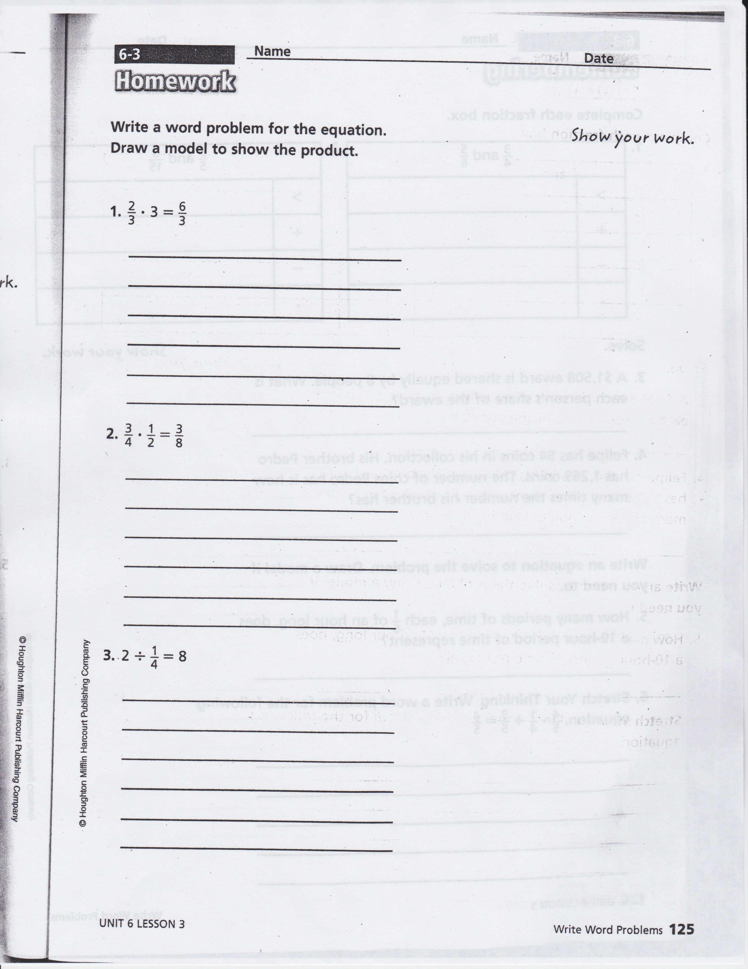 Math Expressions Grade 3 Homework And Remembering Answer Key