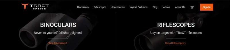 tract binoculars