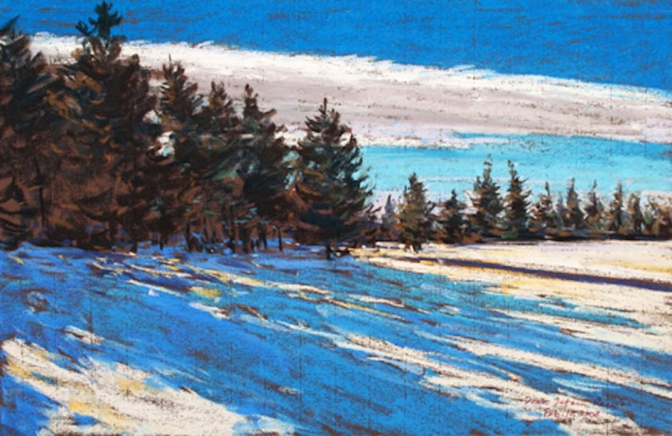 Long Shadows, pastel by D.T. Reeves